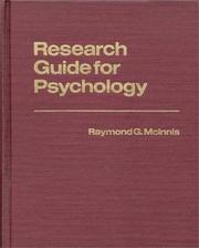Cover of: Research guide for psychology | Raymond G. McInnis