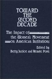 Cover of: Toward the Second Decade | Betty Justice
