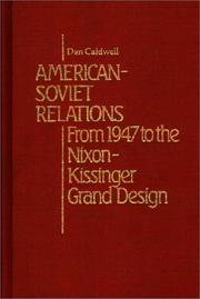 Cover of: American-Soviet relations