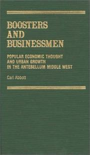 Cover of: Boosters and businessmen