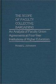 Cover of: The scope of faculty collective bargaining