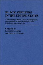Cover of: Black athletes in the United States | Lenwood G. Davis