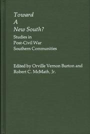 Cover of: Toward a New South | Orville Vernon Burton
