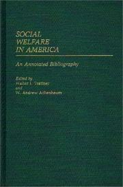 Cover of: Social Welfare in America |