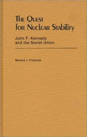 Cover of: The quest for nuclear stability | Bernard J. Firestone