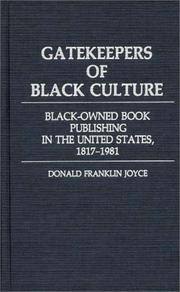 Cover of: Gatekeepers of black culture