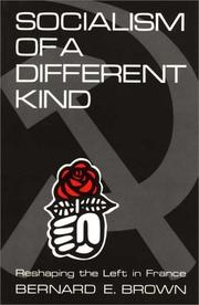 Cover of: Socialism of a different kind