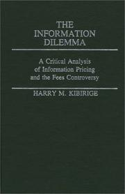Cover of: The information dilemma