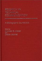 Cover of: Research in technical communication |