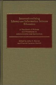 Cover of: Internationalizing Library and Information Science Education |