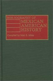 Cover of: Bibliography of Mexican American history