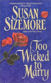 Cover of: Too wicked to marry