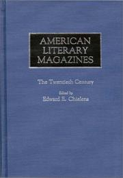 Cover of: American literary magazines |