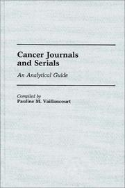 Cover of: Cancer journals and serials | Pauline M. Vaillancourt