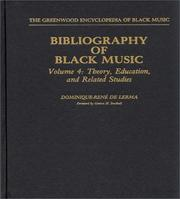Cover of: Bibliography of Black music | Dominique-ReneМЃ De Lerma
