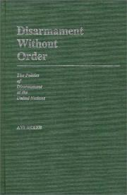 Cover of: Disarmament without order