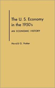 The U.S. economy in the 1950's by Harold G. Vatter