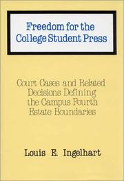 Cover of: Freedom for the college student press | Louis E. Ingelhart