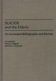 Cover of: Suicide and the elderly
