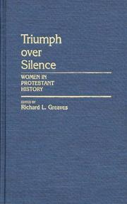 Cover of: Triumph Over Silence | Richard L. Greaves