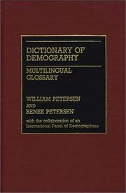 Dictionary of demography by William Petersen