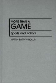 More than a game by Martin Barry Vinokur