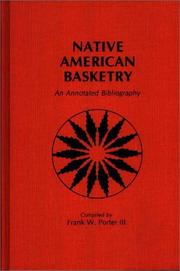 Cover of: Native American basketry
