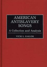 Cover of: American antislavery songs