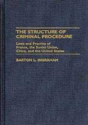 Cover of: The structure of criminal procedure