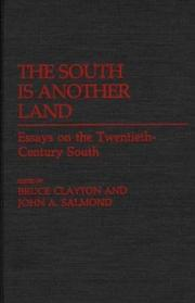 Cover of: The South is another land