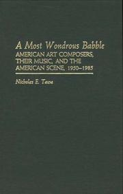 Cover of: A most wondrous babble
