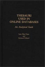 Cover of: Thesauri used in online databases