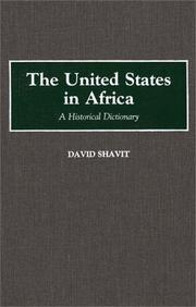 Cover of: The United States in Africa
