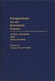 Cover of: Perspectives on an economic future |