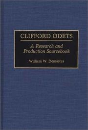 Cover of: Clifford Odets | William W. Demastes
