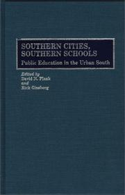 Cover of: Southern Cities, Southern Schools |