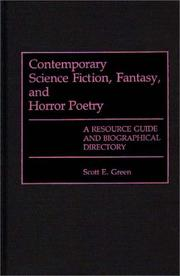 Cover of: Contemporary science fiction, fantasy, and horror poetry