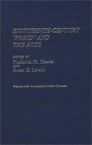 Cover of: Eighteenth-century women and the arts |
