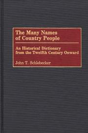 Cover of: The many names of country people