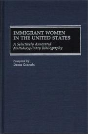 Cover of: Immigrant women in the United States