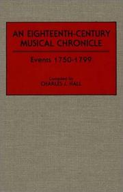 Cover of: An eighteenth-century musical chronicle