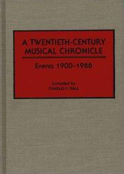 Cover of: A twentieth-century musical chronicle