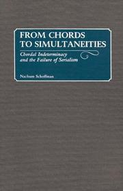 Cover of: From chords to simultaneities