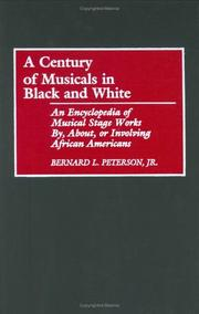 Cover of: A century of musicals in black and white