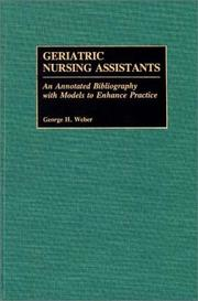 Cover of: Geriatric nursing assistants
