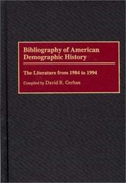 Cover of: Bibliography of American demographic history