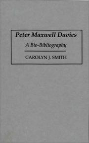 Cover of: Peter Maxwell Davies