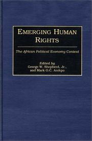Cover of: Emerging Human Rights |