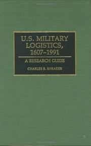 Cover of: U.S. military logistics, 1607-1991