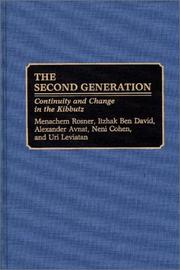 Cover of: The Second Generation | Menachem Rosner